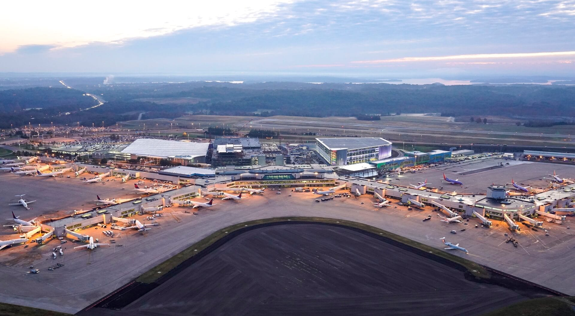 Aerial view of Nashville Airport