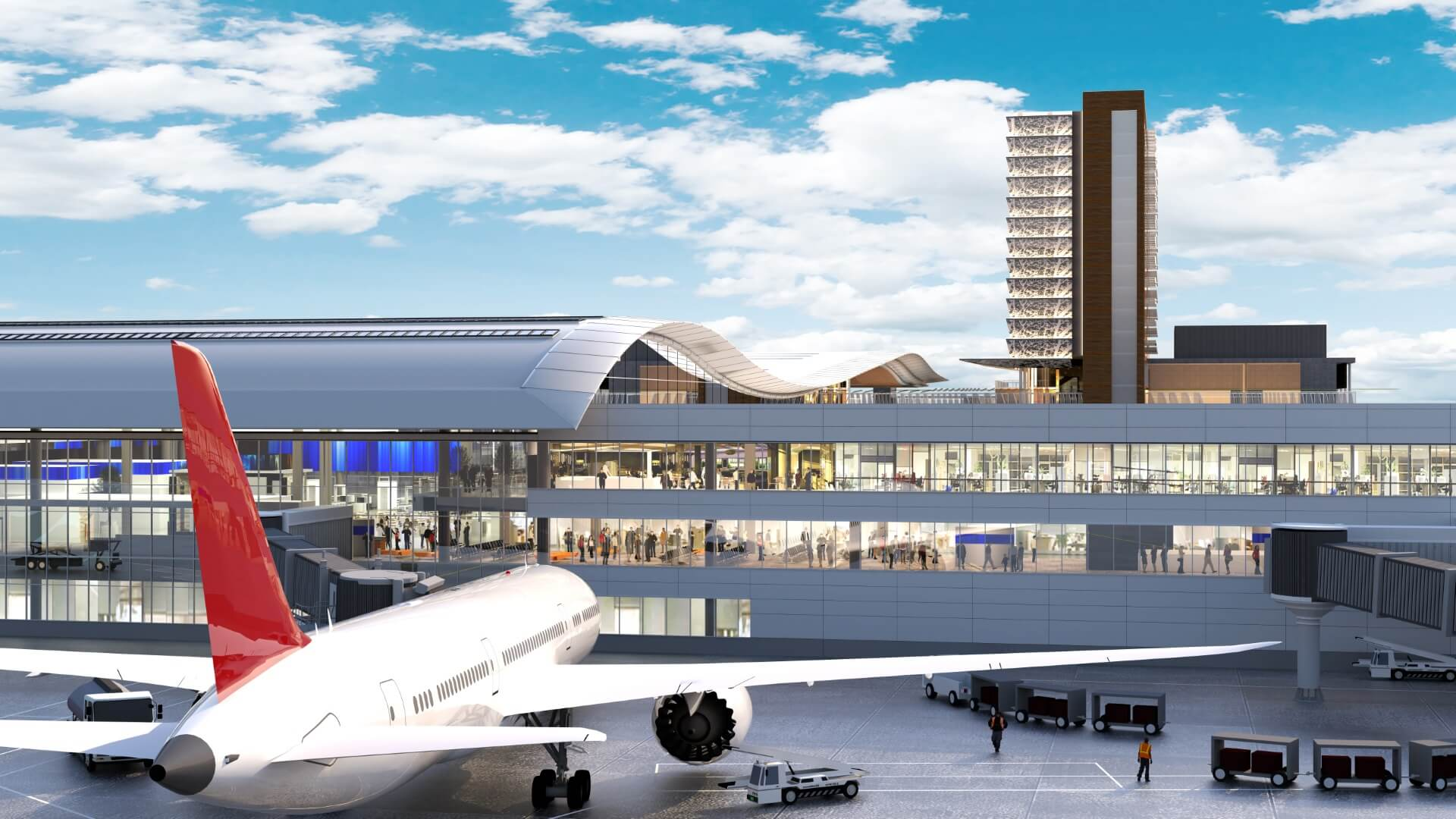 BNA Vision mockup view of airport and plane